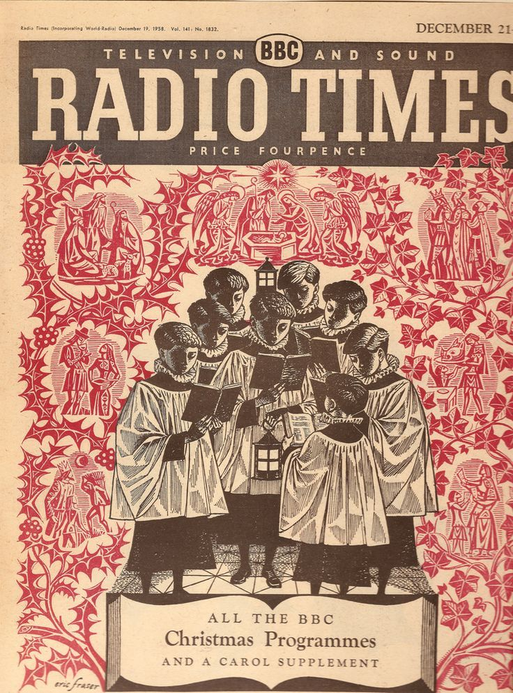 BBC Radio Times - front cover for Christmas 1958 by Eric Fraser