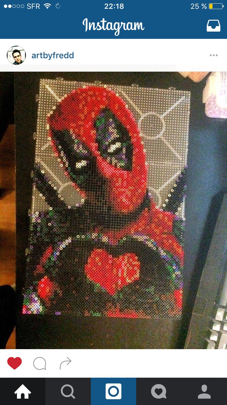 Marvel Deadpool Perler Bead Design By Ratedeforeveryone On Etsy