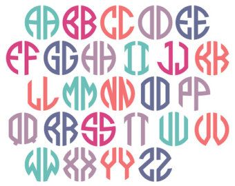 circle monogram vector alphabet 3 letter circle monogram alphabet includes the following file formats studio3 studio svg dxf eps and ai