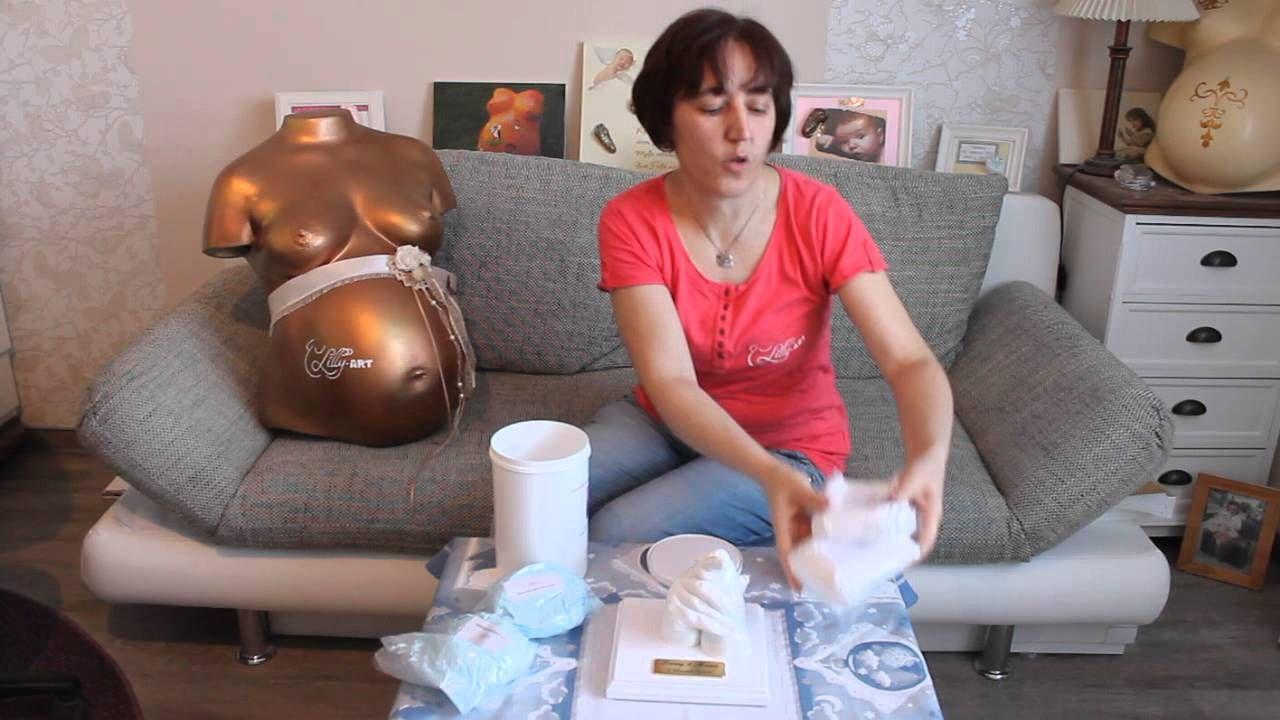 Abformset für gemeinsamen 3d-Gipsabdruecke Mama und Baby