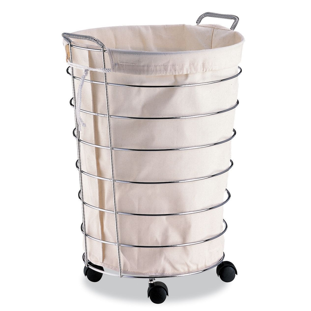 Organize It All Jumbo Laundry Basket With Canvas Bag With Images
