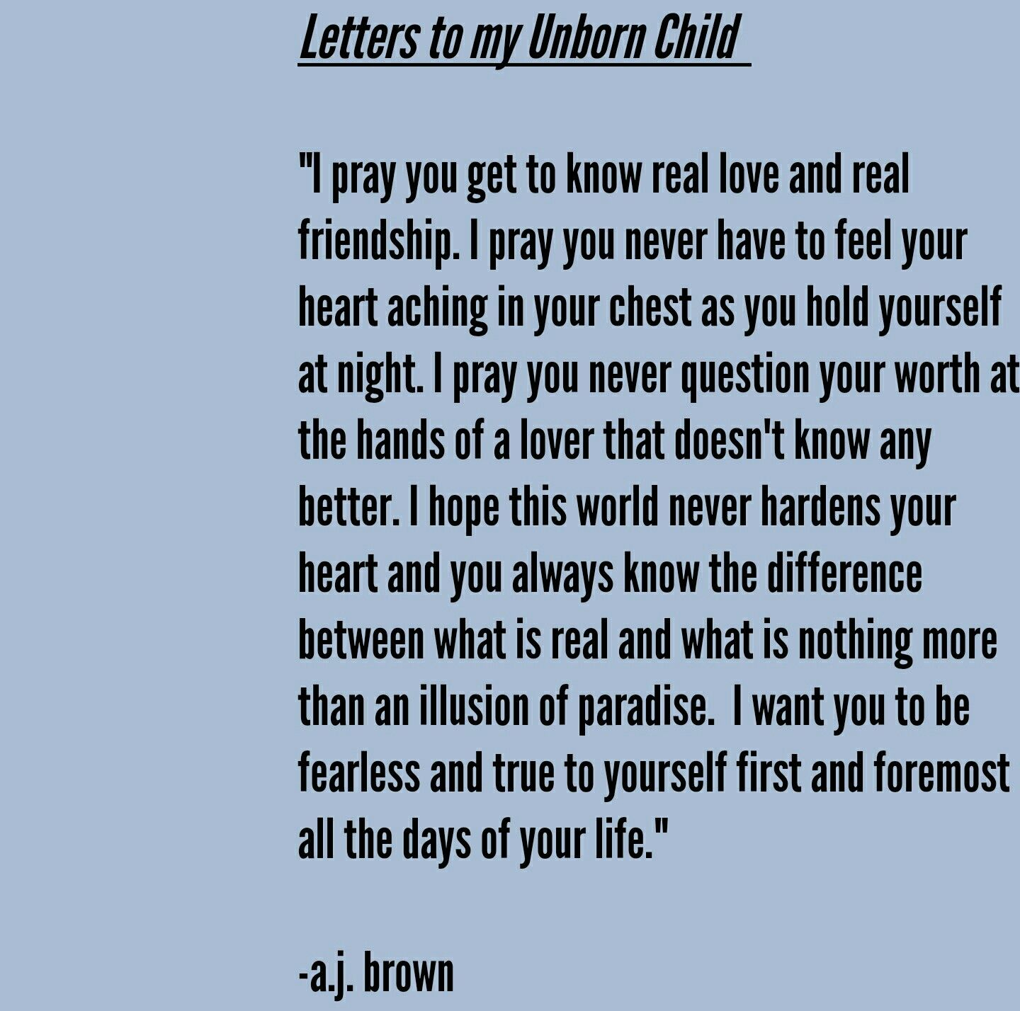 Love Letters To My Unborn Child Love Motherhood Future Quotes