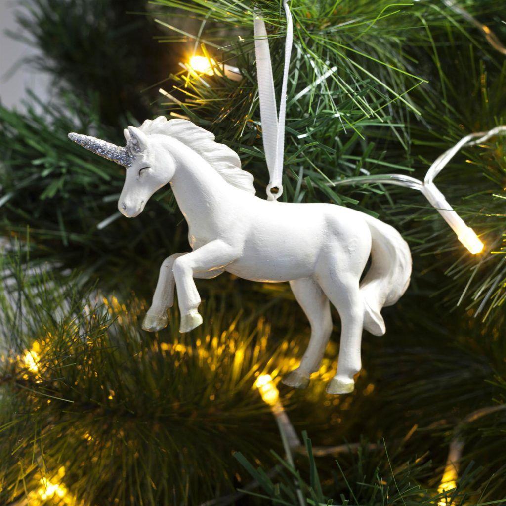 Novelty Glass Unicorn Christmas Tree Decoration Hanging Ornament Gift