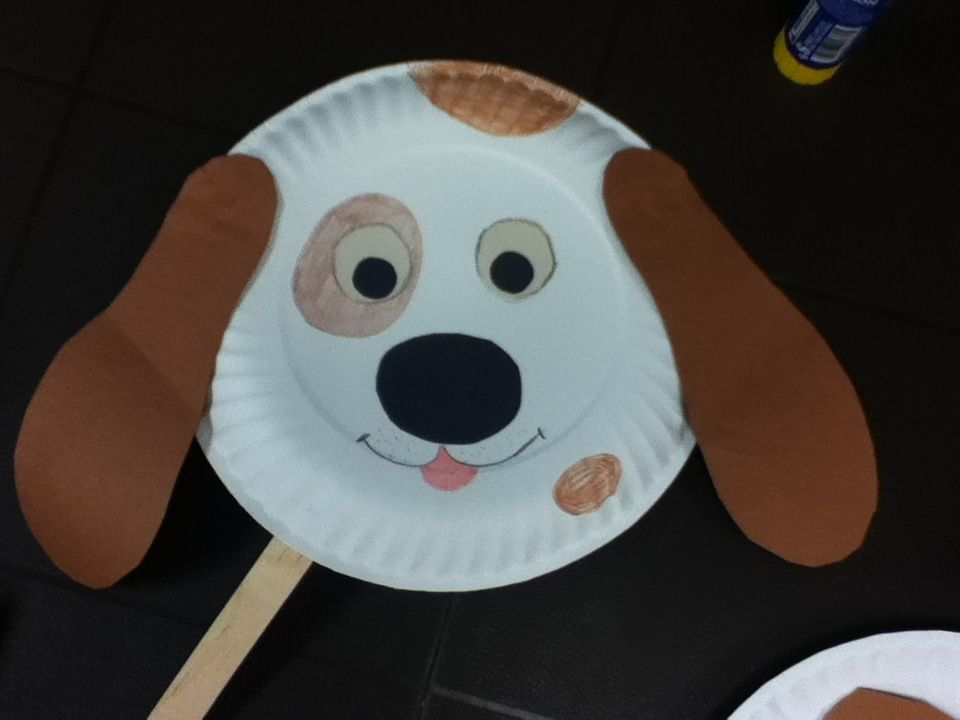 Paper plate craft - doggie mask - craft for toddlers & Paper plate craft - doggie mask - craft for toddlers | Art with kids ...