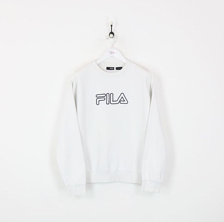 Fila vintage white sweat shirt