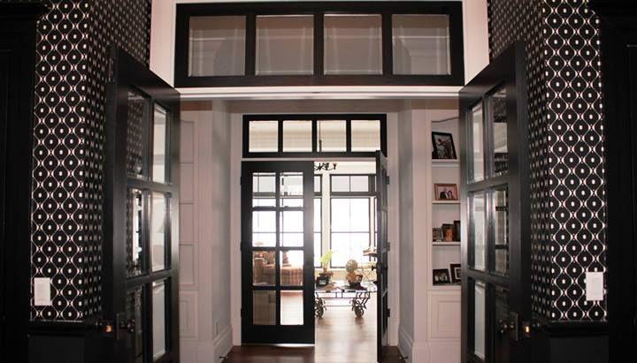 Porte intérieur avec imposte Entrée, couloir Pinterest