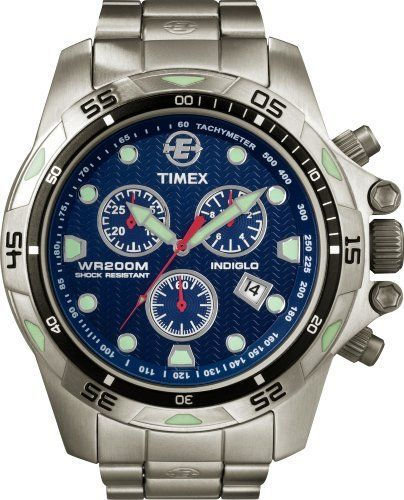 72290b867f1b Timex Men s T49799 Expedition Dive Style Stainless Steel Blue Dial Watch  Timex.  165.00. Mineral crystal. Quartz movement. Water-resistant to 660  feet (200 ...