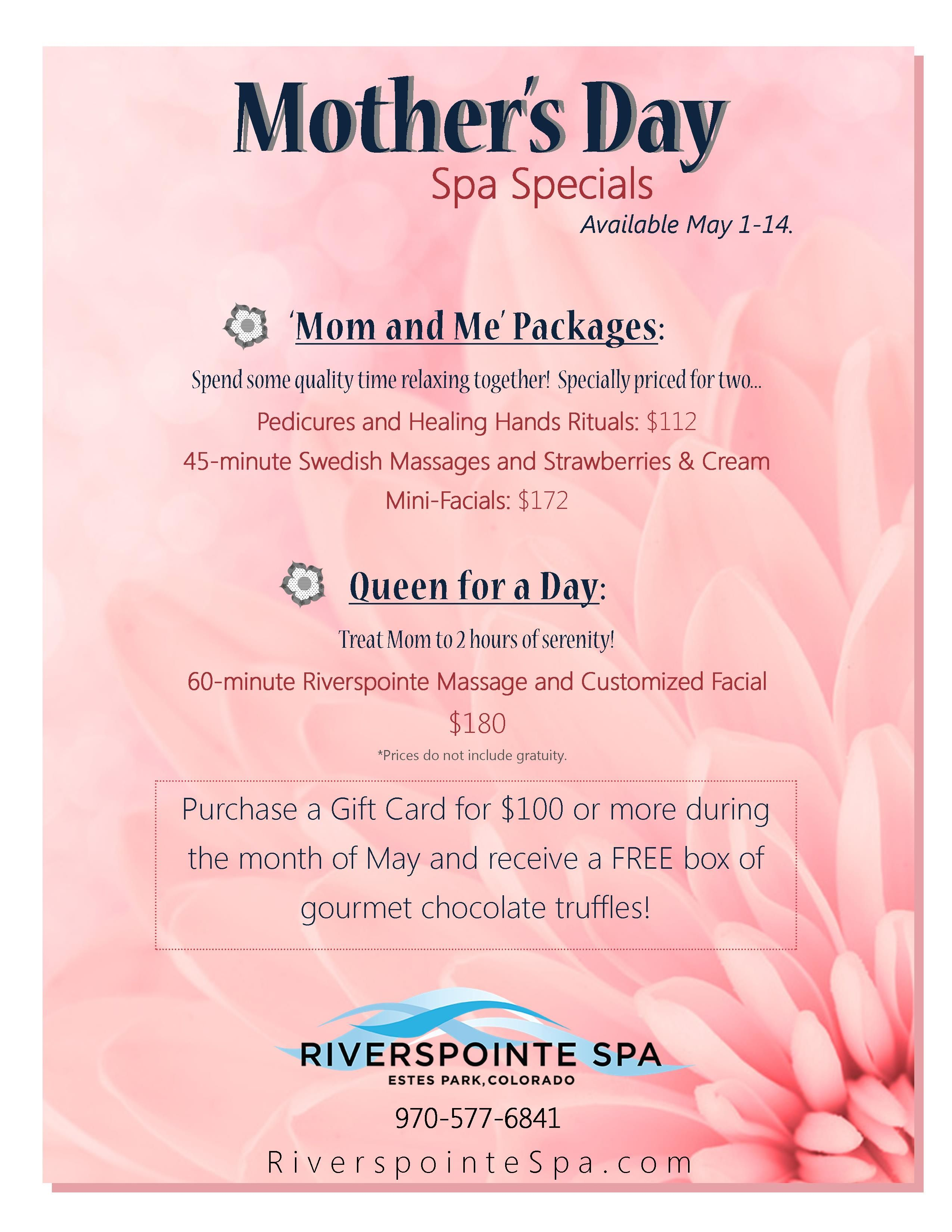 Mother 39 s day 2014 treat mom to a day at the spa for Salon day spa