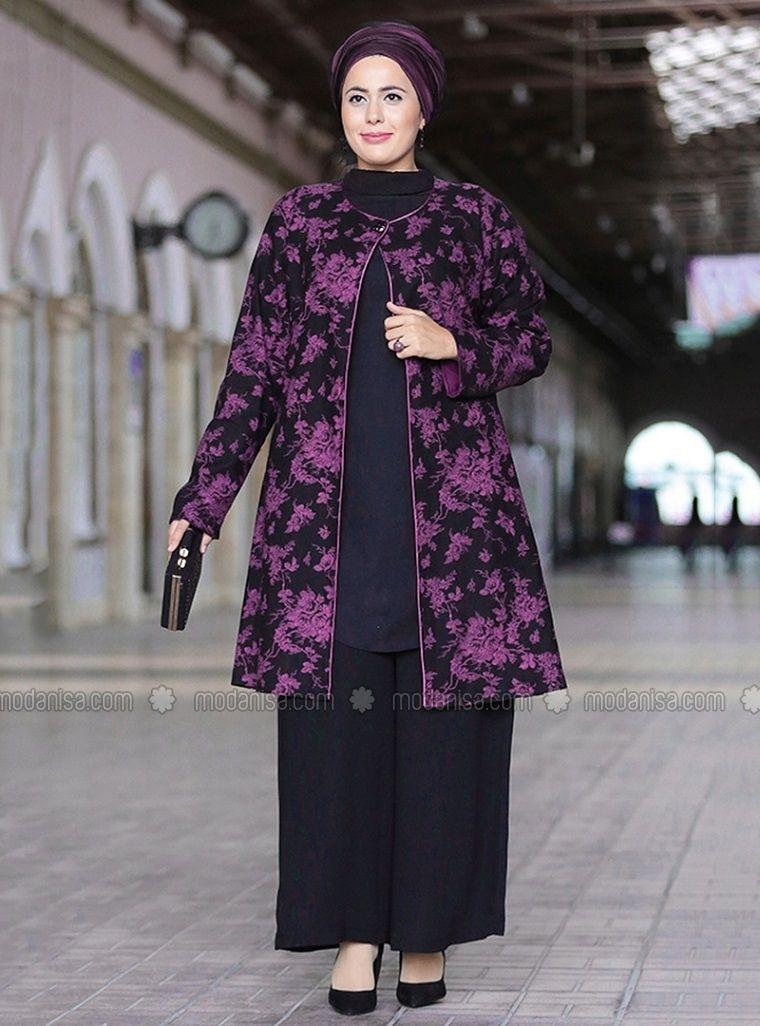 Ceket Pantolon Ikili Takim Fusya Siyah Nesrin Emniyetli Moda Stilleri Kiyafet The Dress
