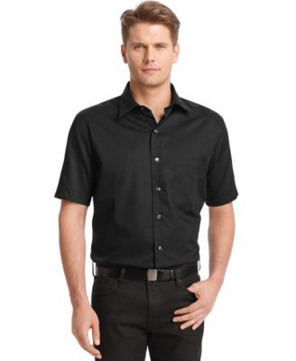 Van Heusen Big and Tall Solid No-Iron Sateen Shirt