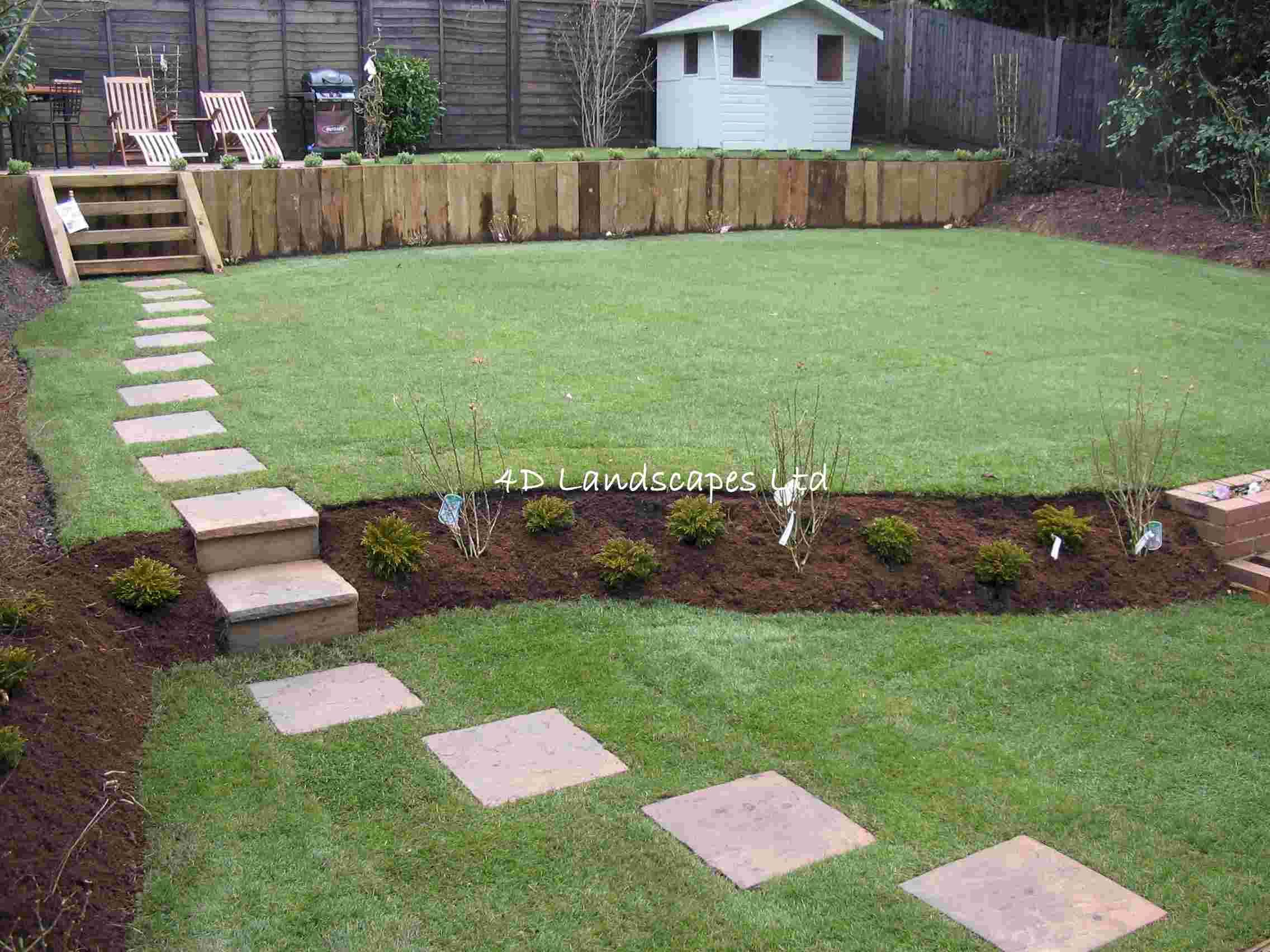 Multi Level Yard Hertfordshire Landscaping Company And