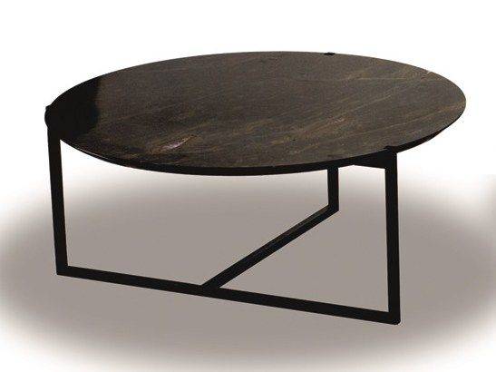 Round marble coffee table ICARO Round coffee table BAXTER