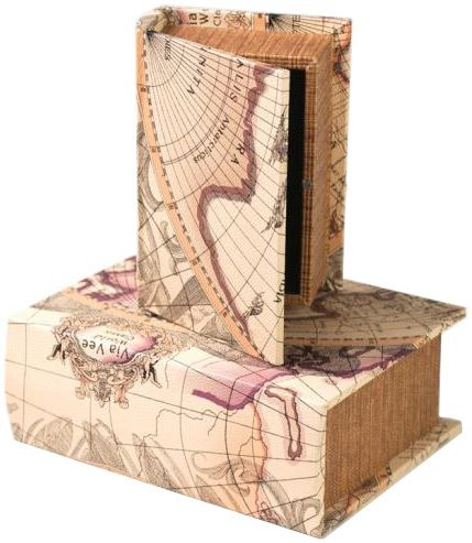 Old world map book box map decor pinterest manual ilctms old world chateau map it out memory keepsake decorative wood book boxes set 2 check out the image by visiting the link gumiabroncs Image collections