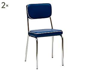 Sedie Blu ~ Sedia da giardino sally blu cm arredi rustici e
