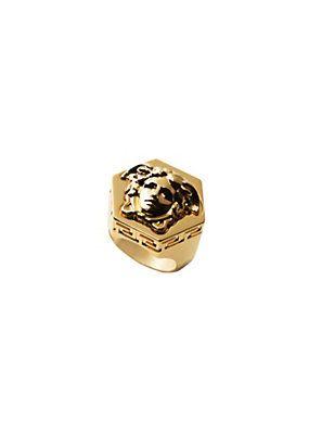 Bague Medusa hexagonale   versace   Pinterest   Versace gold ... 3793af736da