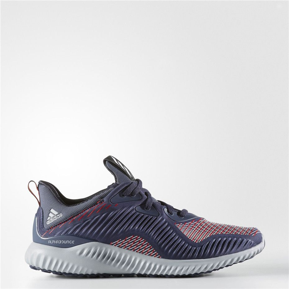 7d0bda4c9d537 Adidas alphabounce Haptic Shoes (Midnight Grey   Running White Ftw   Core  Red)