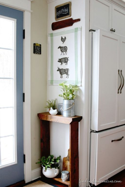 Kitchen Decorating Ideas: DIY Butcher Sign Tea Towel - Finding Home Farms