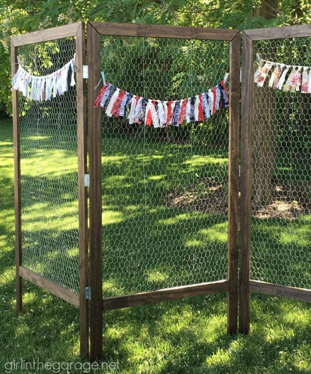 Elegant Best DIY Ideas With Chicken Wire   DIY Folding Display With Chicken Wire    Rustic Farmhouse