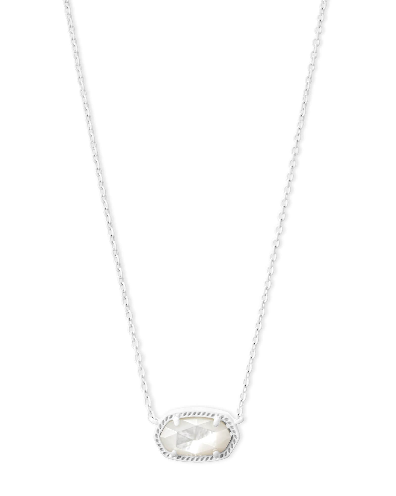 f5ba426410ede Shop the Elisa Matte Pendant Necklace. With an ivory pearl oval ...