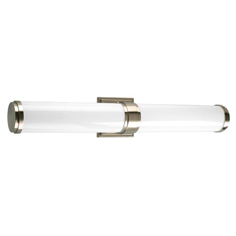 Photo of Progress Lighting Maier Collection 2-Light Brushed Nickel Fluorescent Bathroom Vanity Light P7025-09EB – The Home Depot