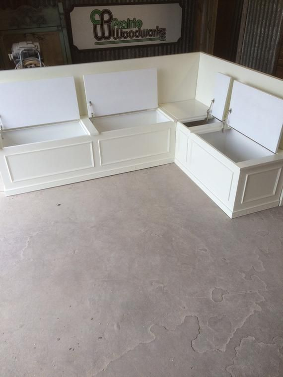 UNFINISHED Banquette- Bench Seat with Storage- Raw no stain