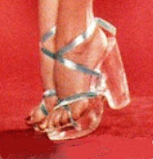 429c273349 Marilyn Monroes lucite shoes. I'd like a pair!! | I LOVE clear stuff ...