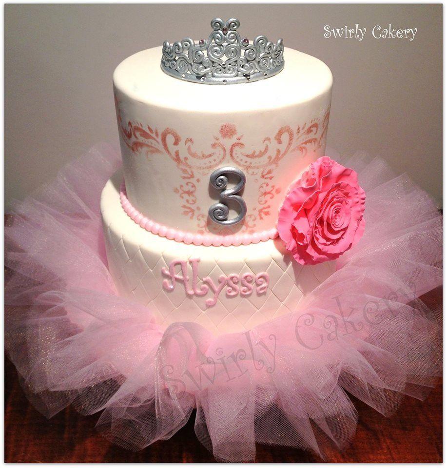 Alyssas Princess Tutu 3rd Birthday Cake Vanilla Bean Cake Wcookies