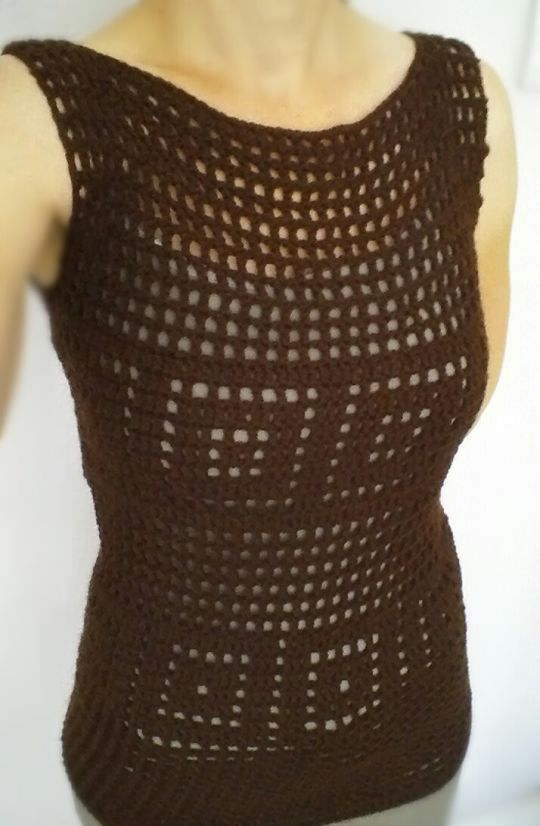 Chocolate Filet Tank, don't think there's a pattern but nice for inspiration