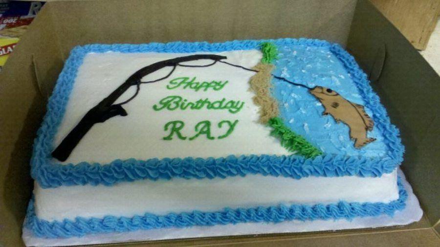 Awe Inspiring Fishing Birthday Cake Fish Cake Birthday Fishing Birthday Cake Personalised Birthday Cards Veneteletsinfo