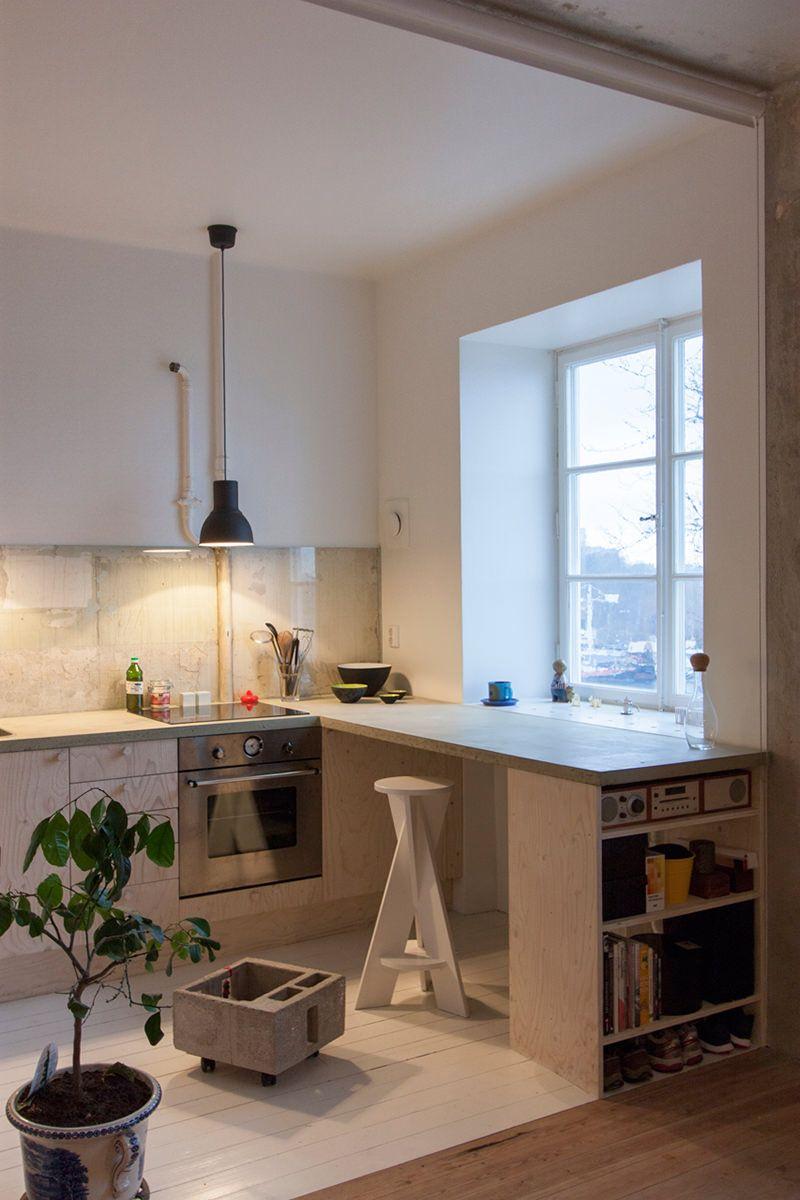 Reforma Criativa Para Um Apartamento Pequeno E Velho Cozinha