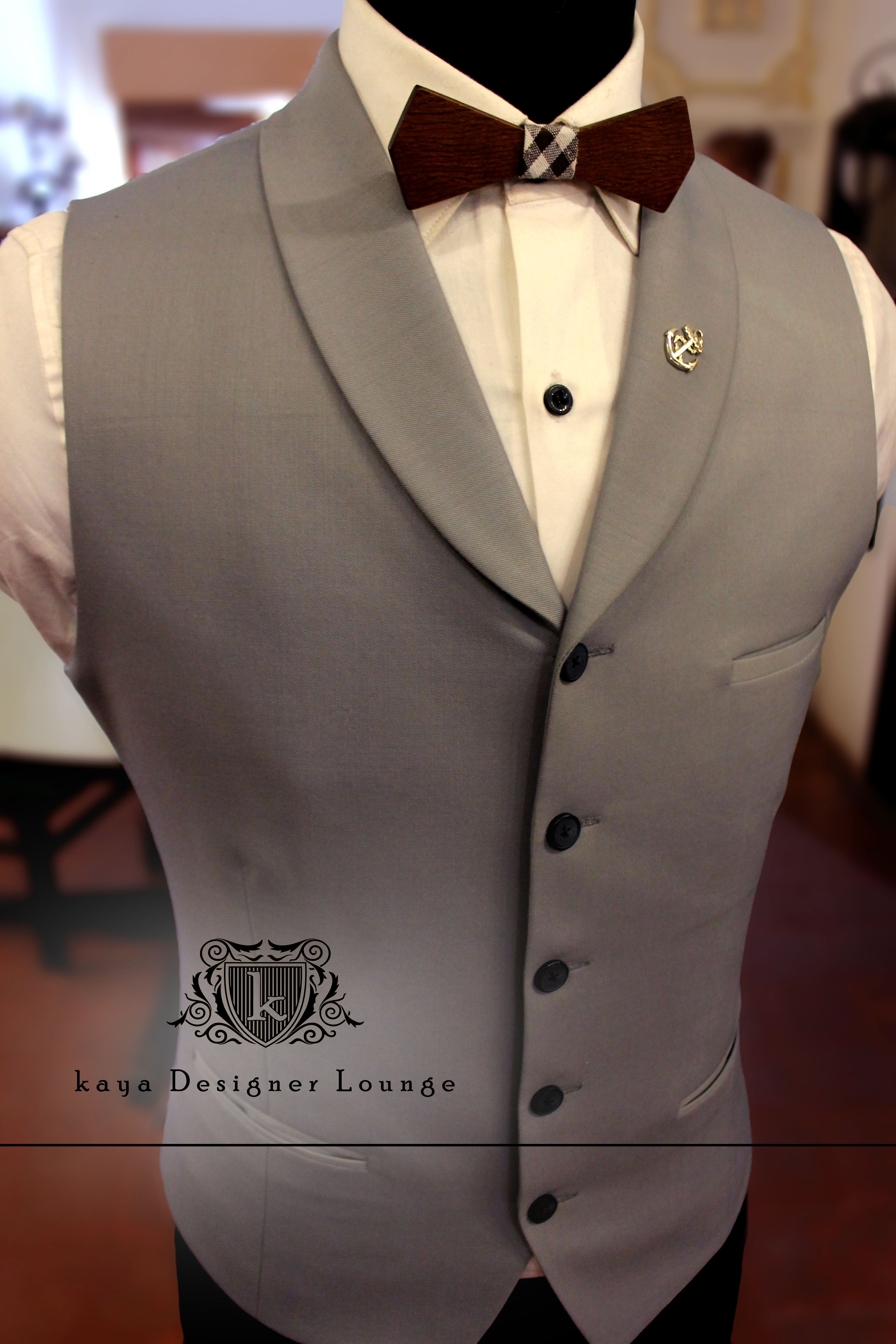 8c667525a4b Waistcoat Wooden Bow Tuxedo Cocktail Outfit kaya Designer Lounge kdl ...