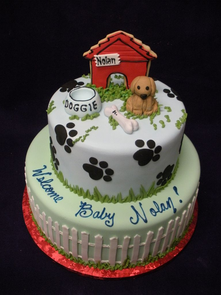 Dog House Cake In 2020 House Cake Cake Fondant Cookies