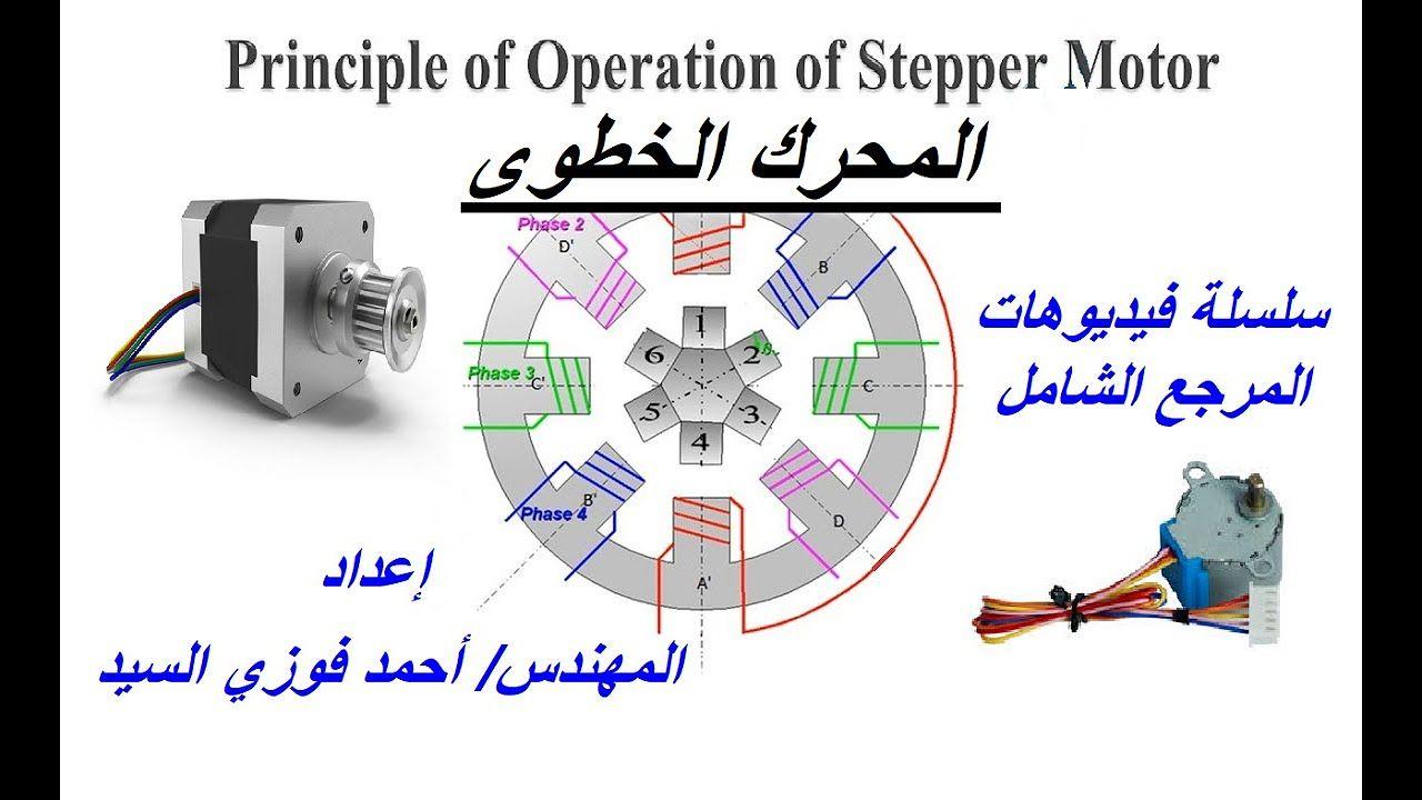 Pin By Ahmed Elsayed On دروس باللغة العربية عن الألكترونيات والكهرباء Stepper Motor Phase 4 Steppers