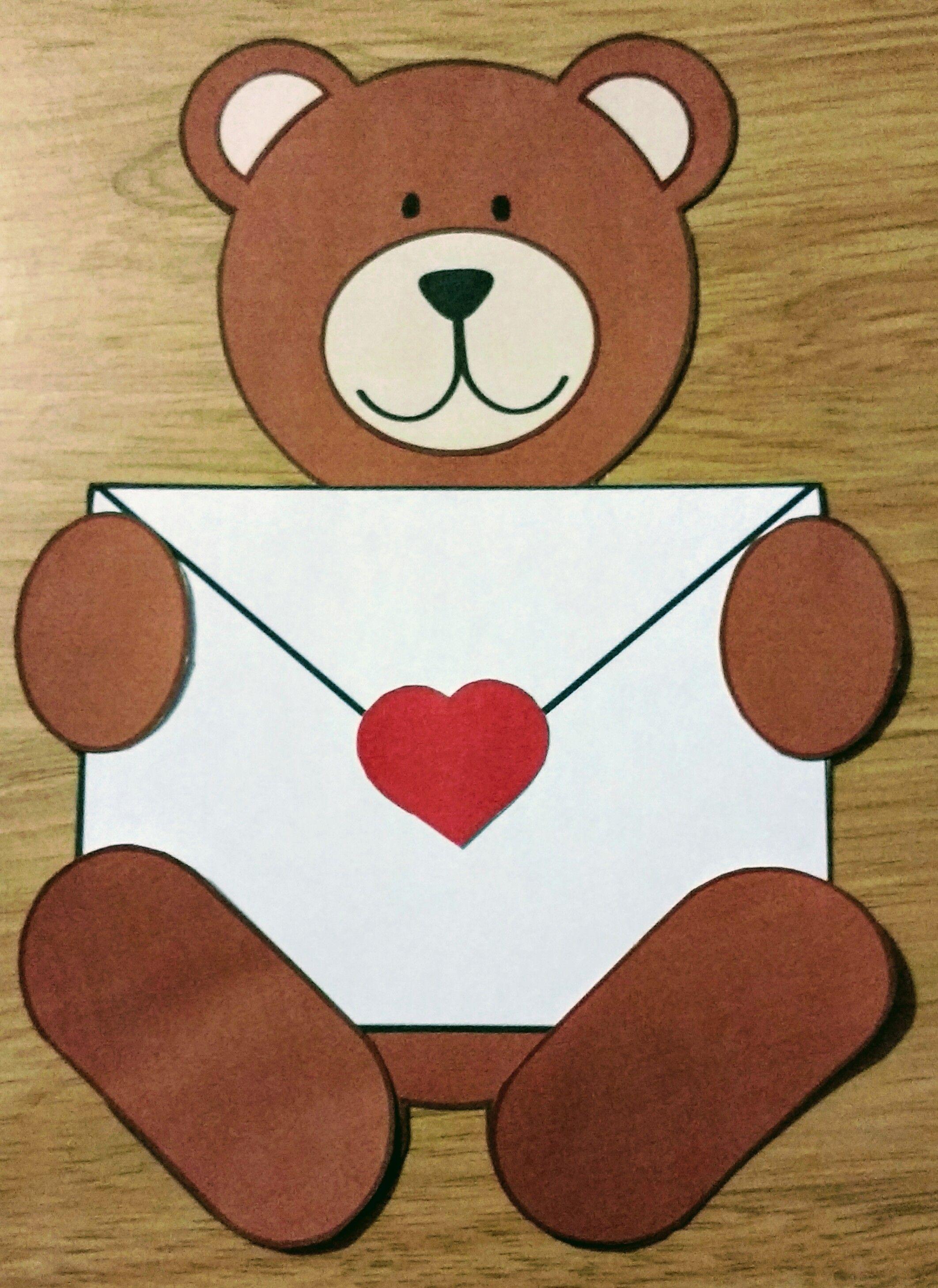 Valentine S Day Bears Paper Craft Craftivity