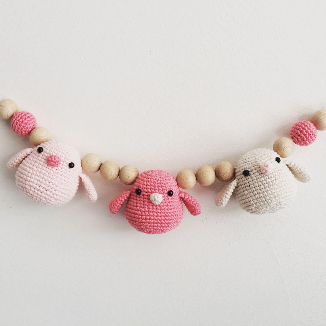 Wagenspanner Gehaakte Vogeltjes Kraamcadeau Mobile Crochet Baby