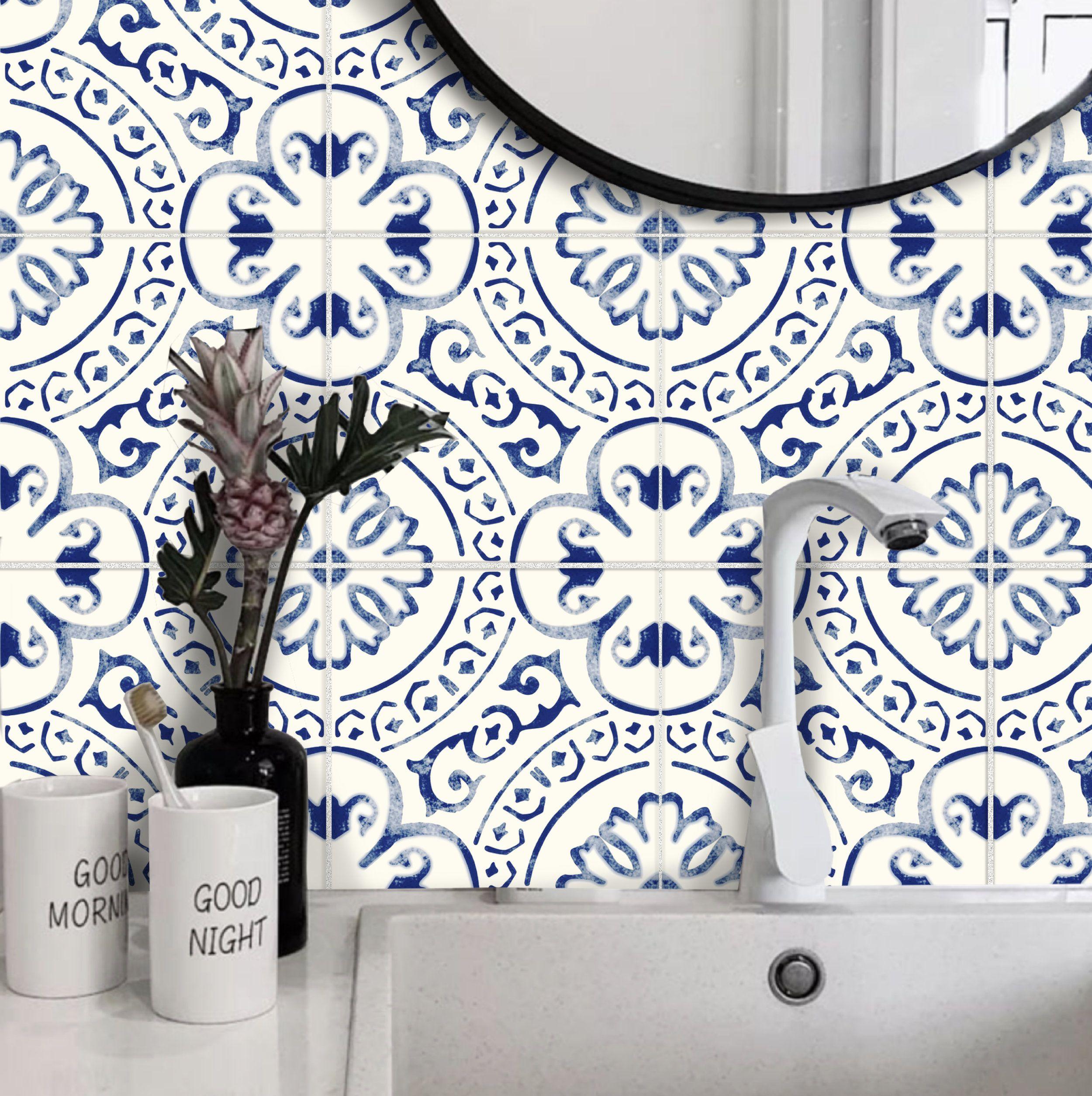 Tile Sticker Kitchen Bath Floor Wall Waterproof Removable Etsy In 2020 Tile Stickers Kitchen Wall Waterproofing Tile Decals