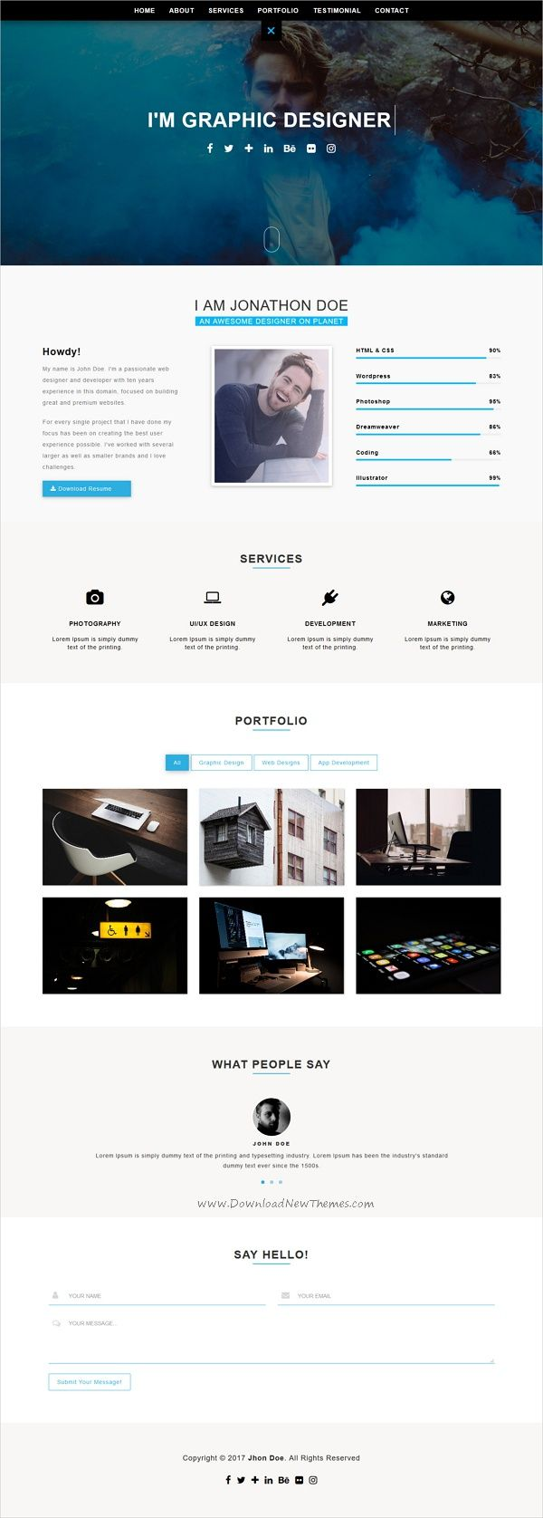 Jorel Is Modern And Creative Design Responsive Html Template For