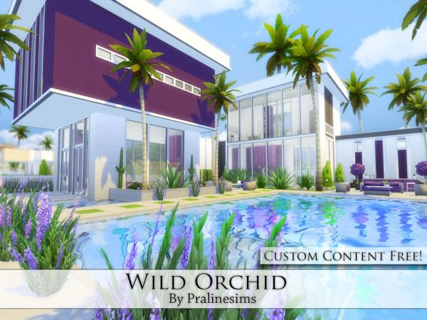 Wild Orchid house by Pralinesims at TSR via Sims 4 Updates