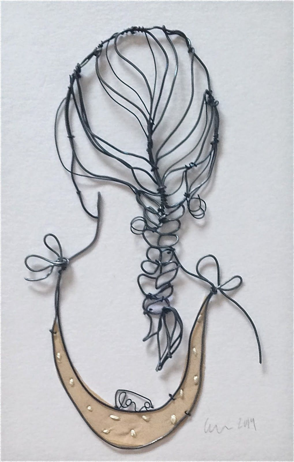 Small\' Metal wire and embroidery on fabric Christina James Nielsen ...