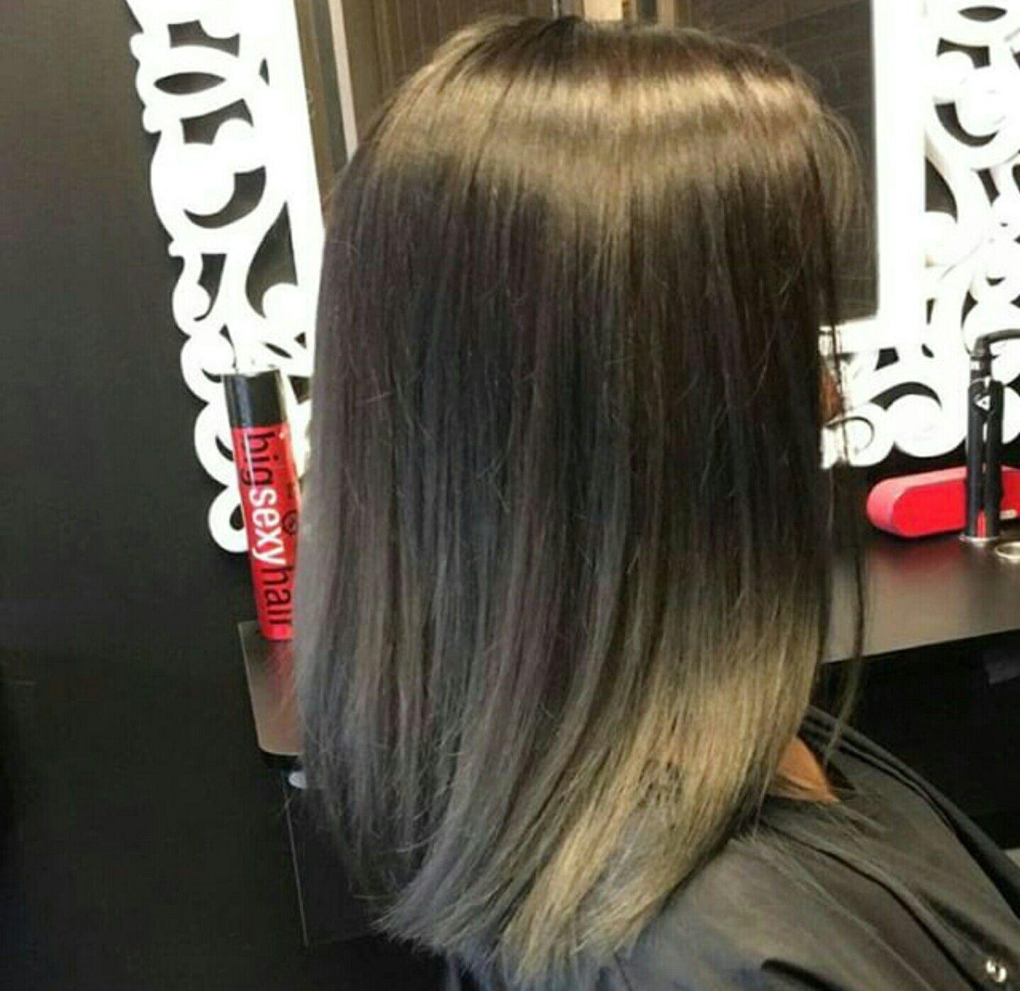 Grey Short Asian Black Balayage Ombre Dark Gray Grey Straight Medium Length Balayage Hair Balayage Hair Dark Black Balayage