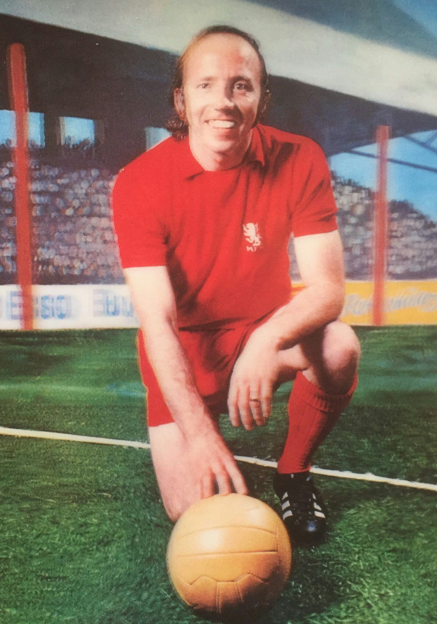 Nobby Stiles of Middlesbrough 3D card from 1972