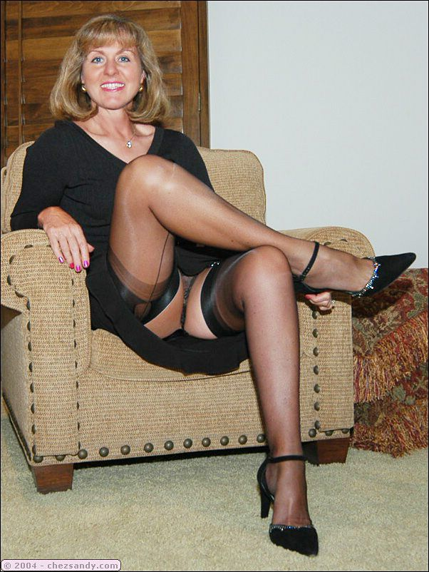 Amazing lady mature wife in stockings