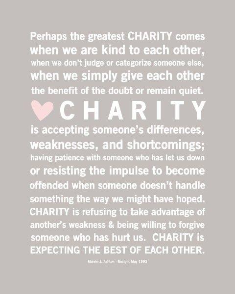 Charity.......<3<3<3