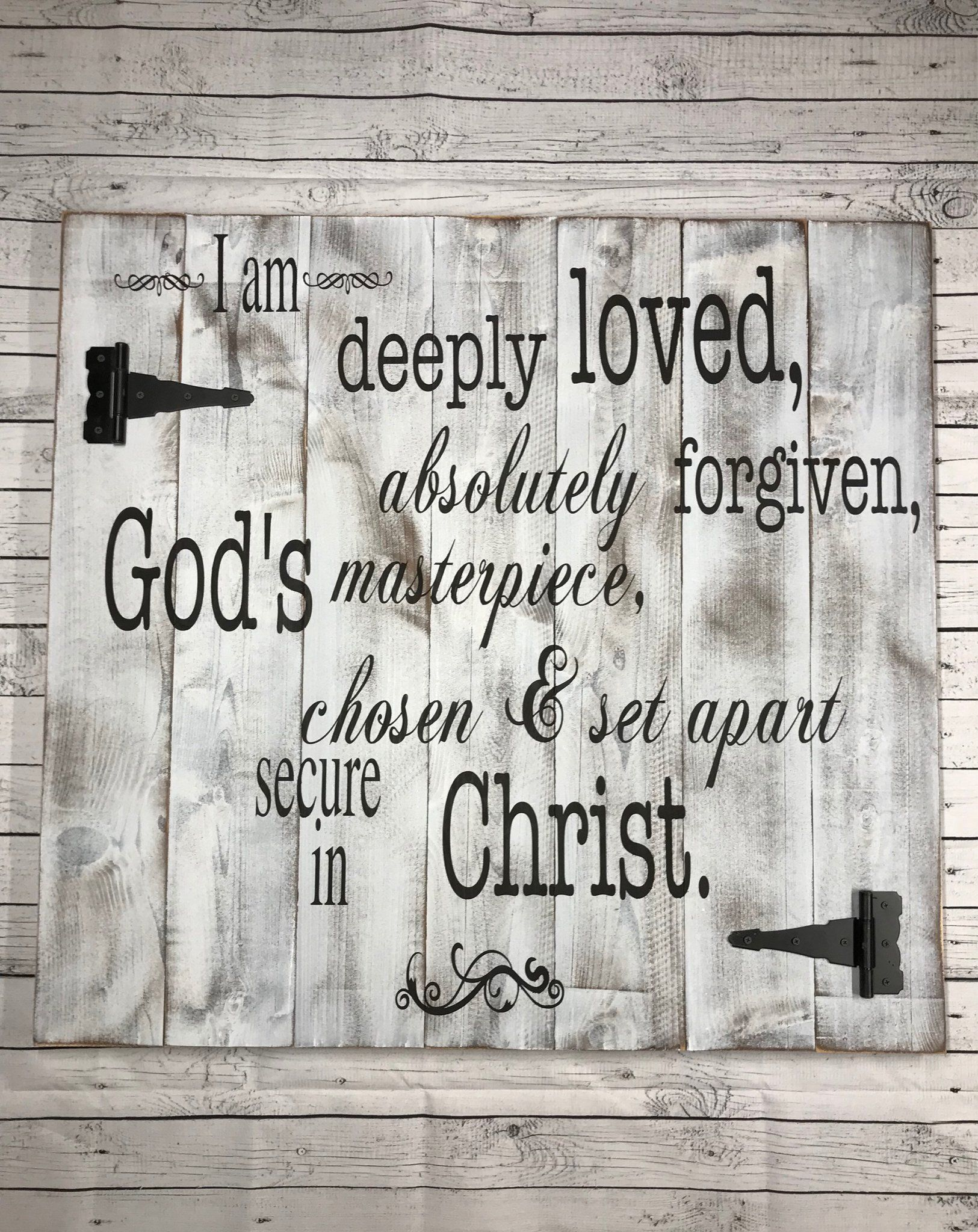 Deeply Loved Large Rustic Wood Sign Wood Signs