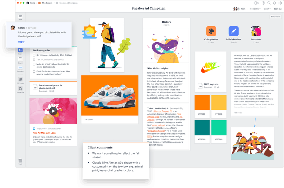 Milanote the tool for organizing creative projects in