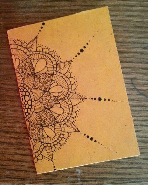 Diy Notebook In Rice Paper Zentangle Design Art Arte Manos