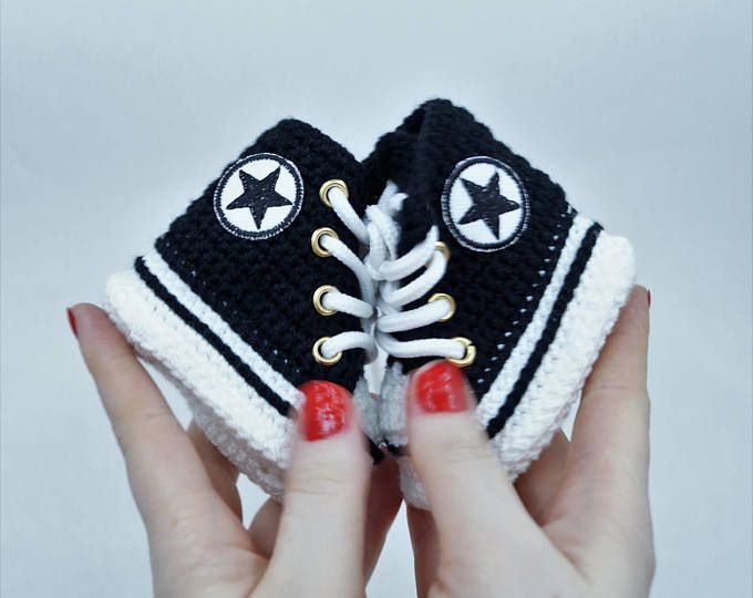 sports shoes a9f7a 6a67f Crochet Baby Converse, Baby Shoes, Baby Converse, Nike ...
