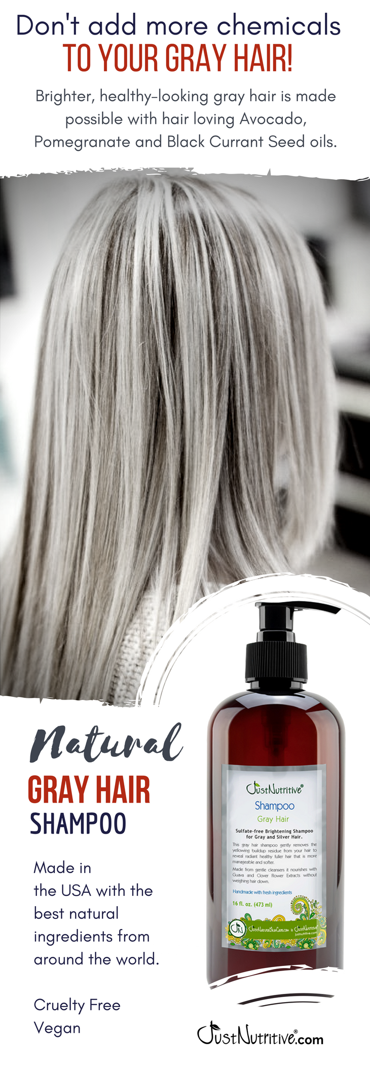 Gray Hair Shampoo Shampoo For Gray Hair Gray Hair Highlights Grey Hair Color