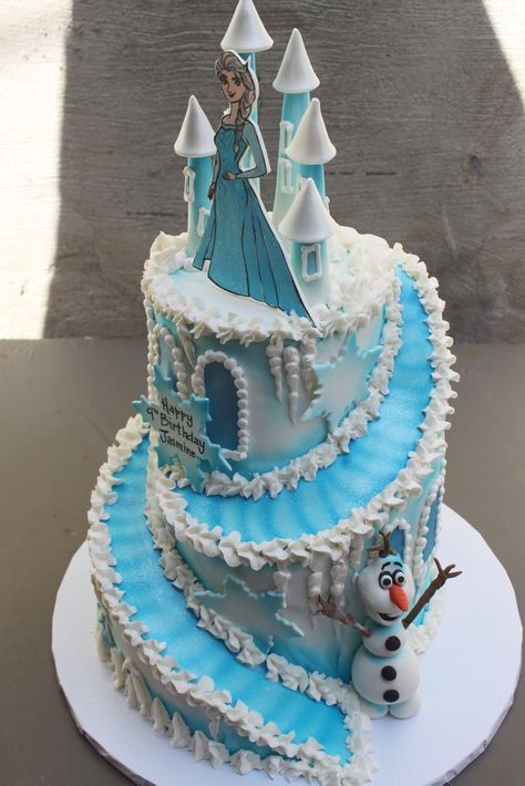 Frozen Castle Frozen castle cake Frozen castle and Birthday cakes