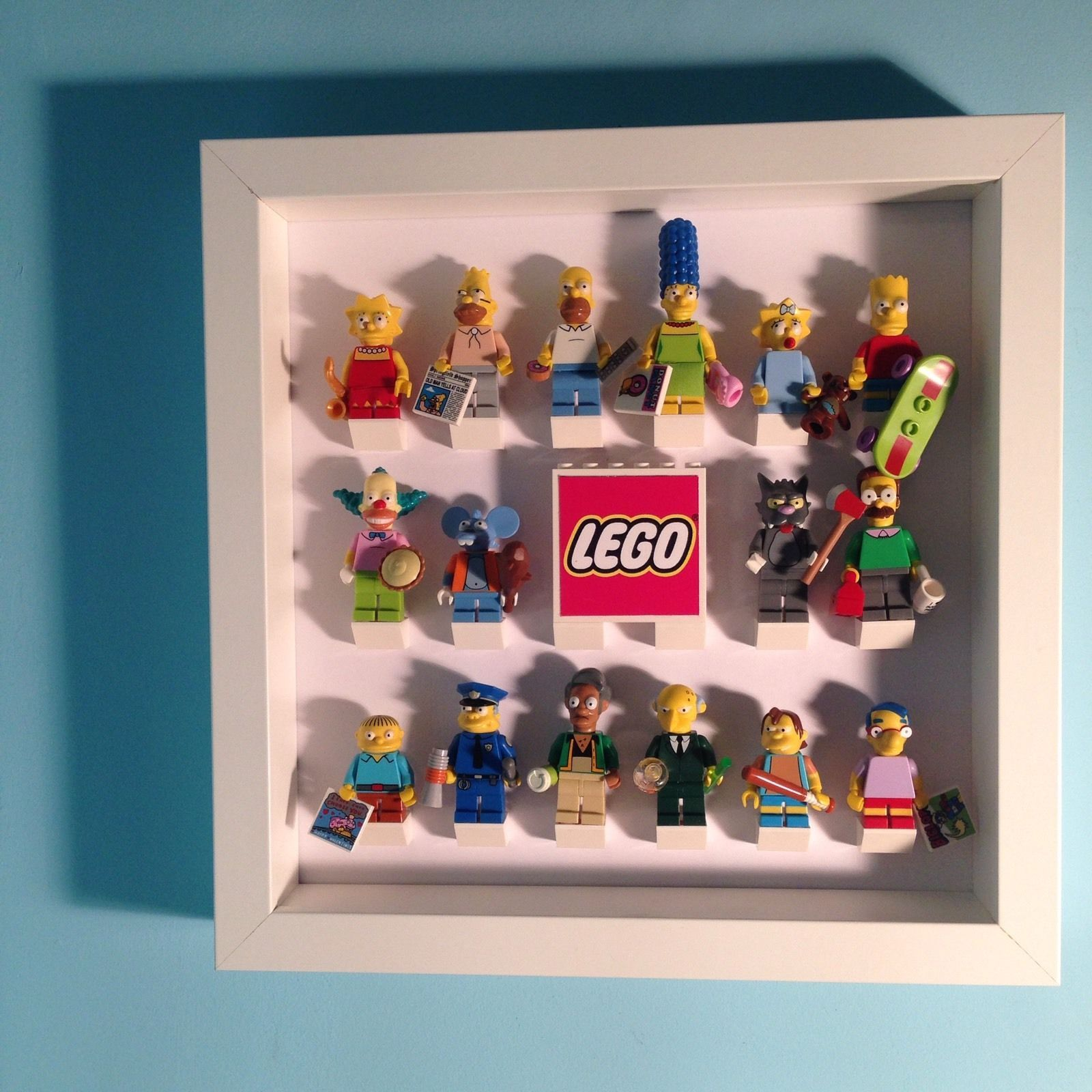 LEGO Minifigure Display Case Frame Series 4 5 6 7 8 9 10 11 12 13 ...